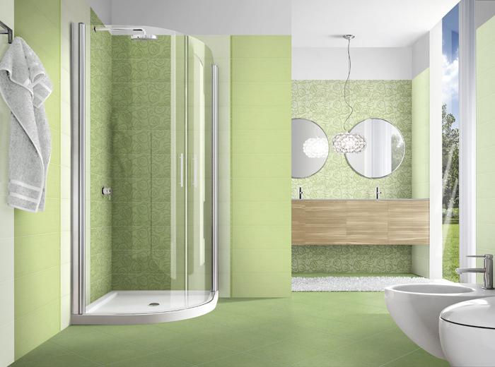 Piastrelle bagno verde acqua. bagno mosaico azzurro pavimento bagno