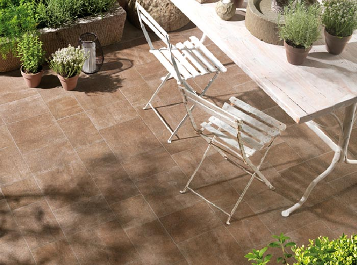 Ambientazione Piastrella NEW COUNTRY - PATIO (ABK CERAMICHE)
